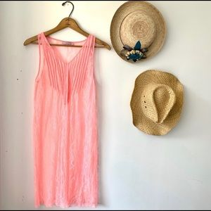 Calypso St. Barth Bright Pink Lace Coverup / Dress